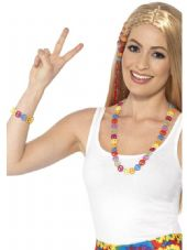 1960's Peace Sign Necklace & Bracelet Set